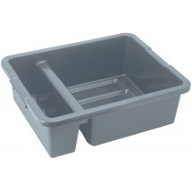 Winco PLTC-7G Gray 2-Compartment Bus Box