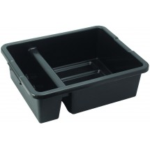 Winco PLTC-7K Black 2-Compartment Bus Box