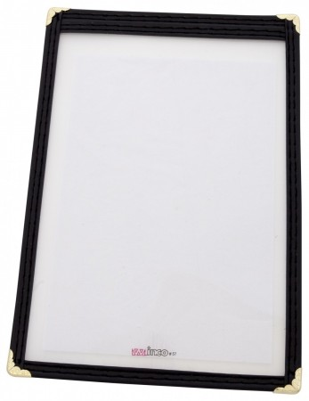 "Winco PMC-5K Black Single Menu Cover 5"" x 8"""