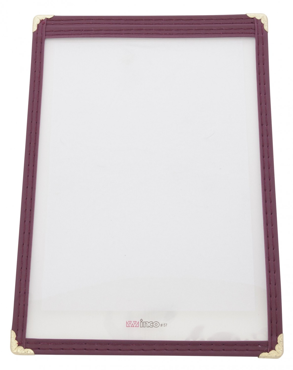 "Winco PMC-5U Burgundy Single Menu Cover 5"" x 8"""