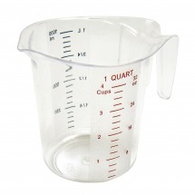 Winco PMCP-100 Polycarbonate Measuring Cup 1 Qt.