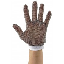 Winco PMG-1S Stainless Steel Small Reversible White Protective Mesh Glove