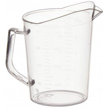 Winco PMU-100 Polycarbonate Measuring Cup 1 Qt.