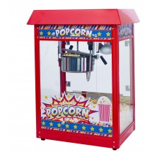 Winco POP-8R Show Time Electric Countertop Popcorn Machine, Red Telfon Coated Kettle 120V, 1350W