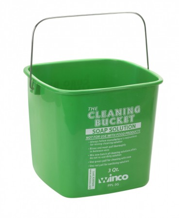 Winco PPL-3G Green Cleaning Bucket 3 Qt.