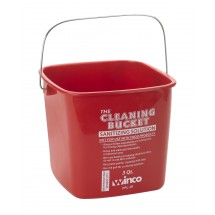 Winco-PPL-3R-Red-Cleaning-Bucket-3-Qt-