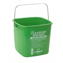 Winco PPL-6G Green Soap Solution Cleaning Bucket 6 Qt.