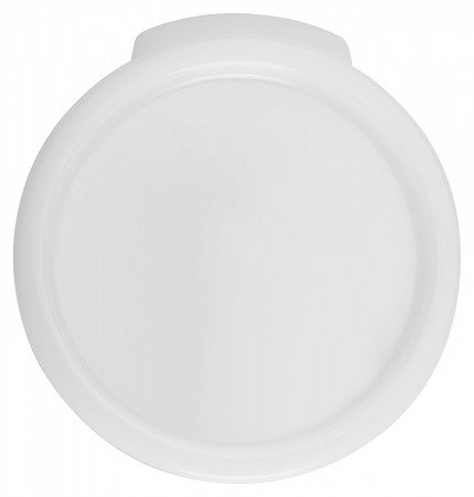 Winco PPRC-1C White Round Cover for PPRC-1W