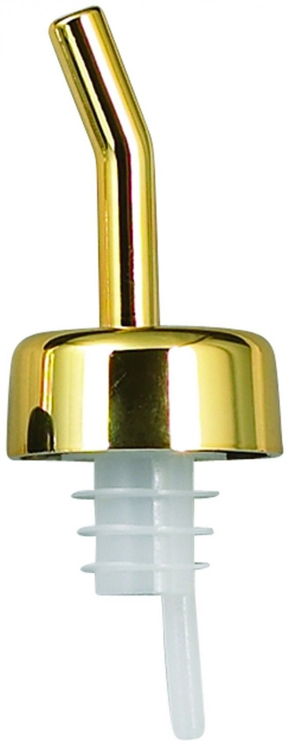 Winco PPW-GD Free Flow Whiskey Pourer with Golden Spout and Collar- 1 doz