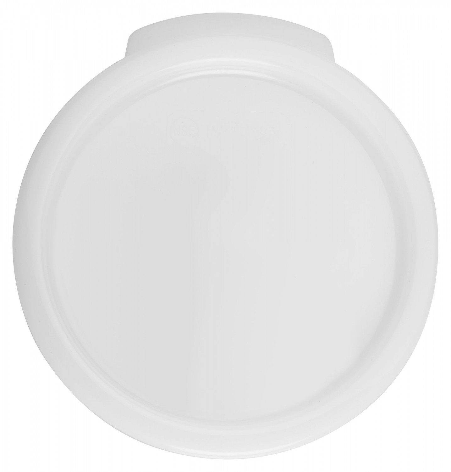 Winco PPRC-24C White Round  Storage Container Cover for 2 and 4 Qt. Containers
