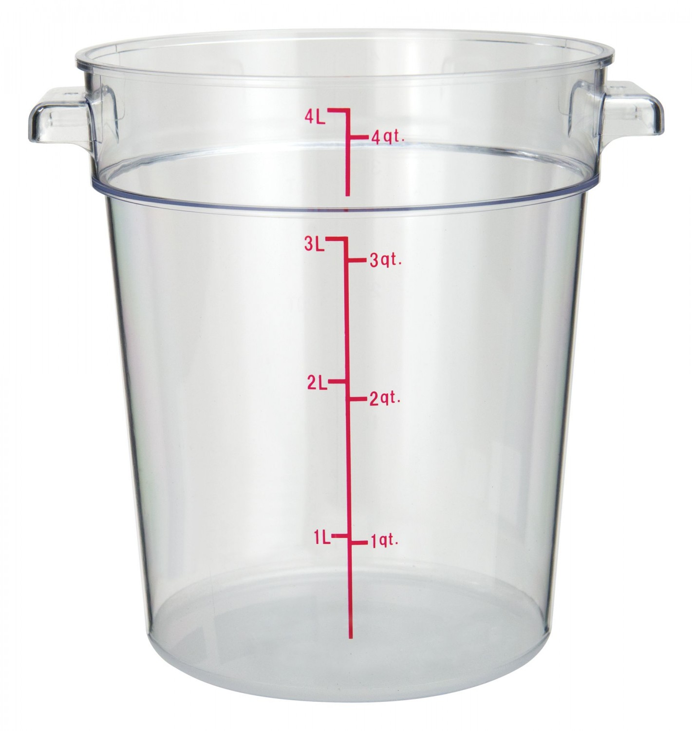 Winco PCRC-4 Clear Round Food Storage Container 4 Qt.