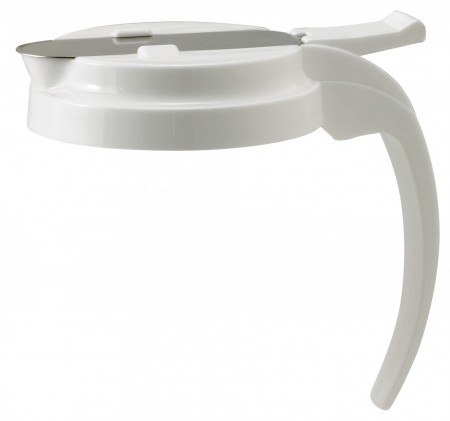 Winco PSUD-Wlid White Lid for Syrup Dispensers 32 oz. 48 oz.
