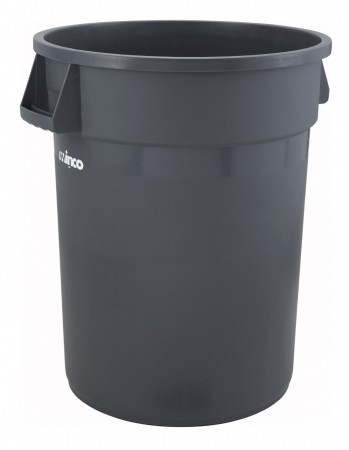 Winco PTC-44G Gray Heavy Duty Trash Can 44 Gallon
