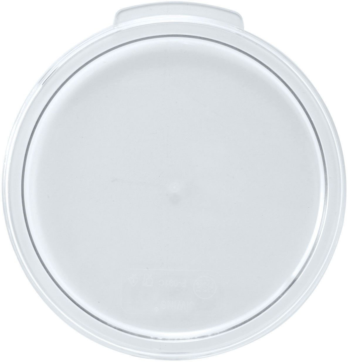 Winco PTRC-24C Translucent Round Storage Container Cover