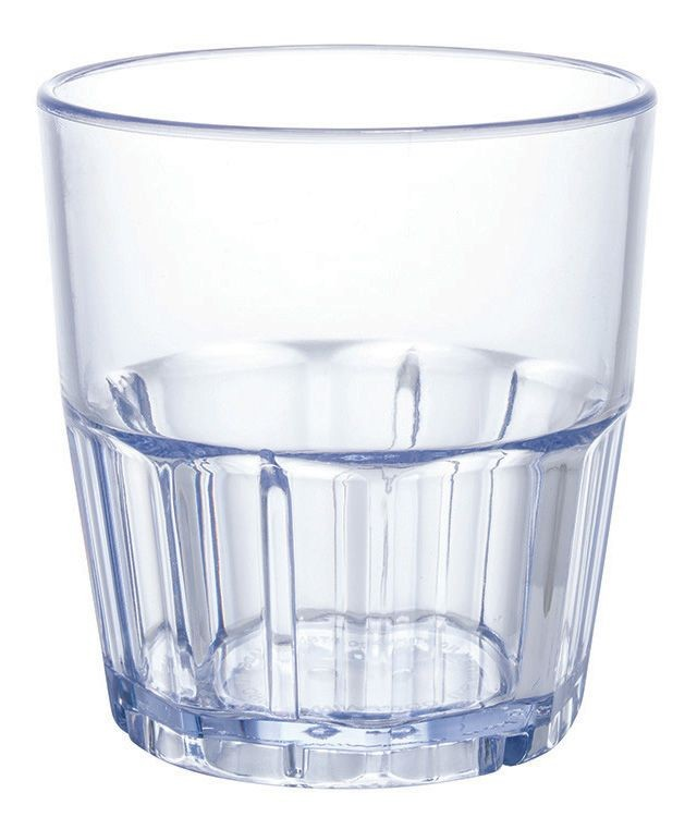 Winco PTSN-12 Ribbed Blue Havana Tumbler 12 oz.