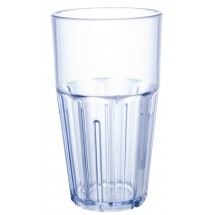 Winco PTSN-16 Ribbed Blue Havana Tumbler 16 oz.