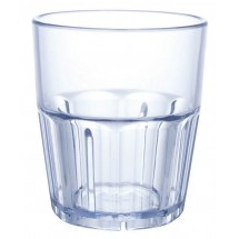 Winco PTSN-9 Ribbed Blue Havana Tumbler 9 oz.