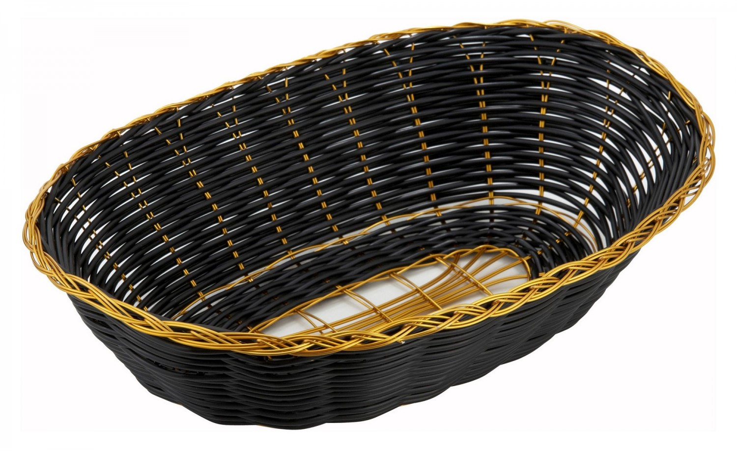 Winco PWBK-9V Oval Woven Baskets - 1 doz
