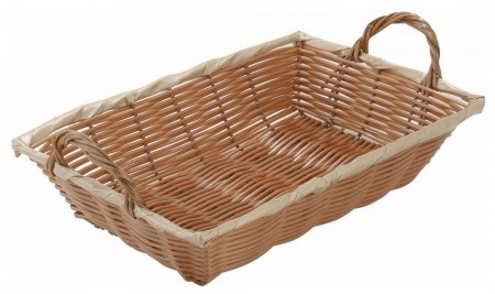 """Winco PWBN-12B Oblong Poly Woven Basket With Handles 12"""" x 8"""""""