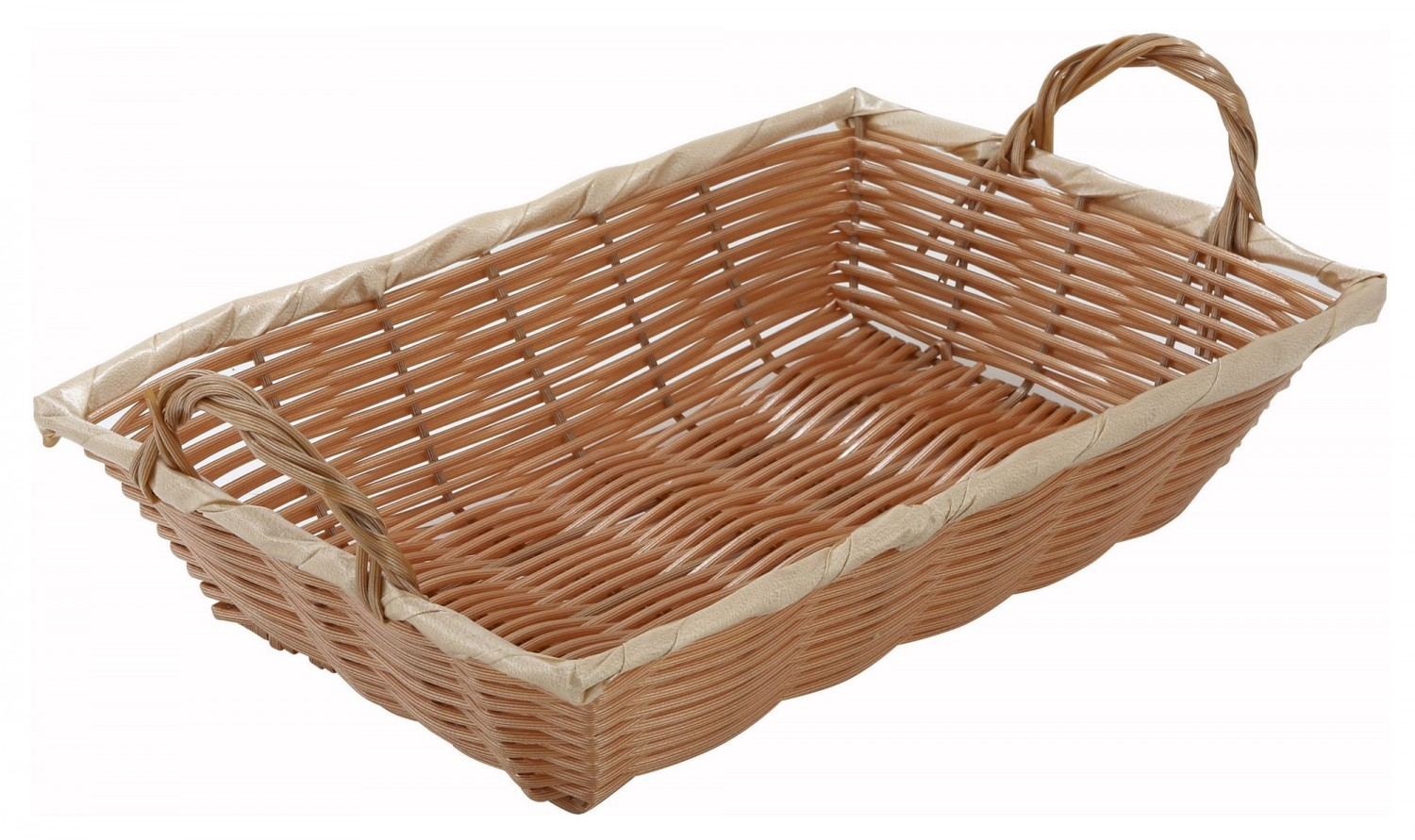 "Winco PWBN-12B Oblong Poly Woven Basket With Handles 12"" x 8"""