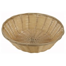 Winco PWBN-9R Natural Round Woven Baskets - 1 doz
