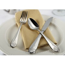 Winco Peacock 5-Piece Extra Heavy Weight Flatware Set - Service for 12