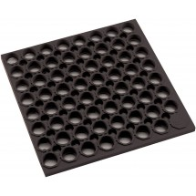 Winco RBMH-35K Black Anti-Fatigue Floor Mat, 3' x 5' x 3/4""