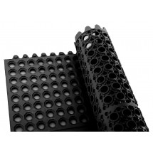 Winco RBMI-33K Black Interlocking Floor Mat