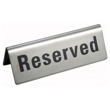 "Winco RVS-4 ""Reserved"" Sign"