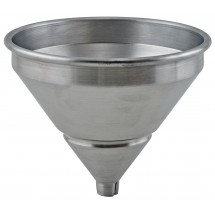 Winco SAF-1ST Spun Aluminum Funnel with Strainer 1 Pint