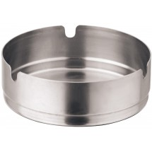 Winco SAS-4 Stainless Steel Round Ashtray 4""