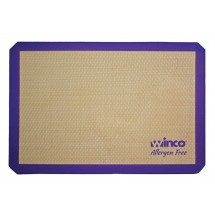 "Winco SBS-21PP Two Third Size Allergen-Free Purple Silicone Baking Mat 14-7/16"" x 20-1/2"""