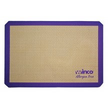 "Winco SBS-24PP Full Size Allergen-Free Purple Silicone Baking Mat 16-3/8"" x 24-1/2"""