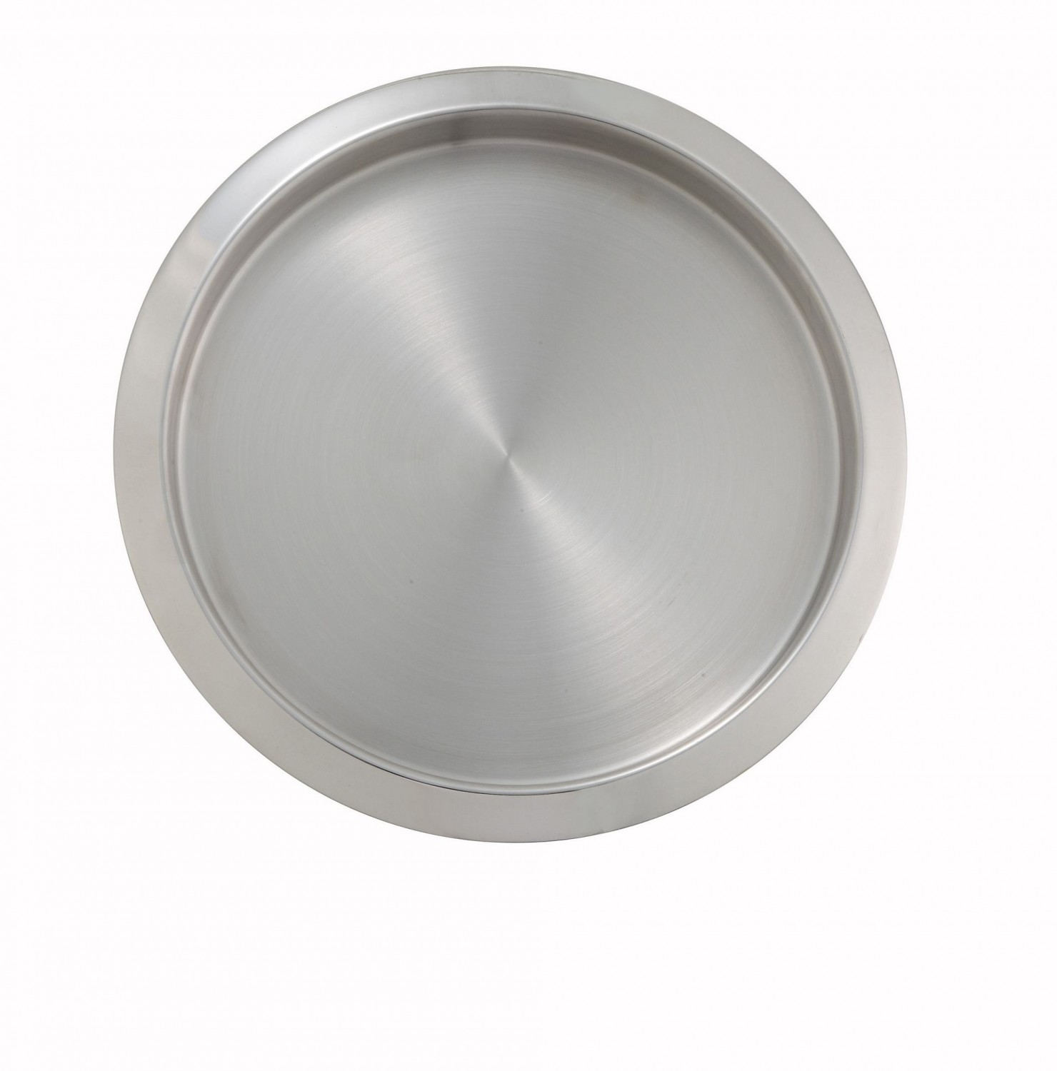 Winco SBT-11 Round Stainless Steel Service Bar Tray 11""