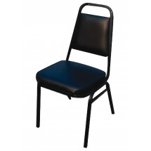 """Winco SC-2K Stacking Side Chair with Black Pad Seat 2"""""""