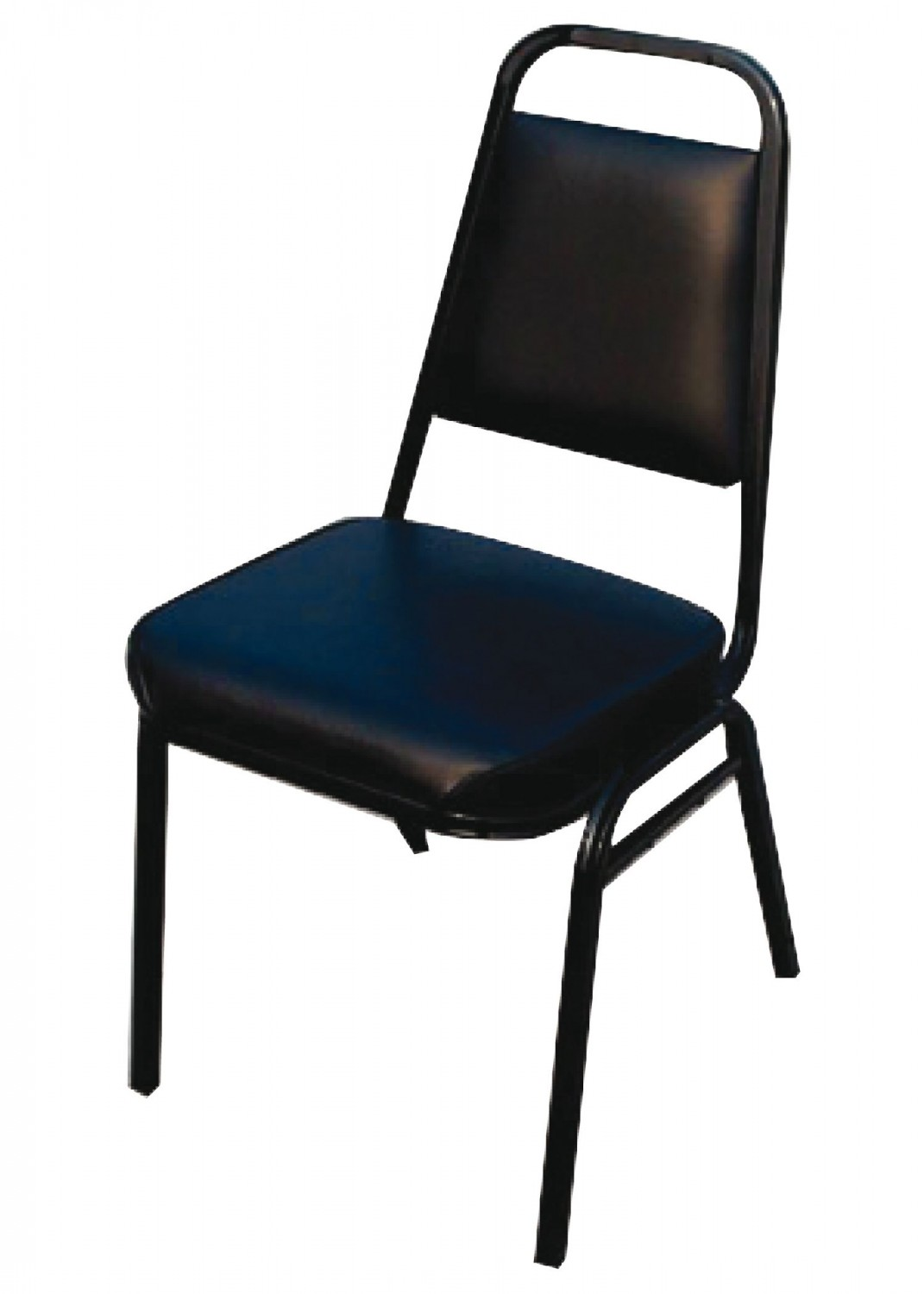 Winco SC-2K Black Pad Stacking Chair