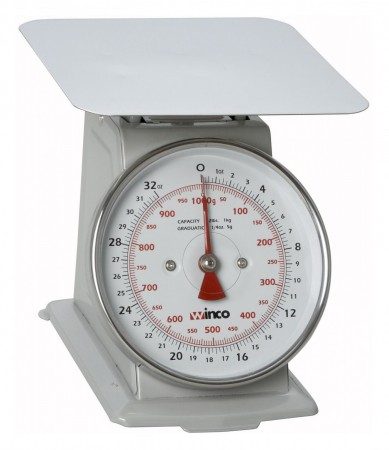 """Winco SCAL-62 Scale 2 Lb with 6"""" Dial"""