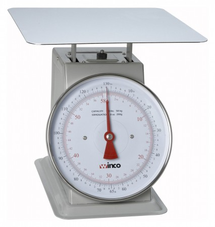 """Winco SCAL-9130 Scale with 9"""" Dial 130 Lb."""
