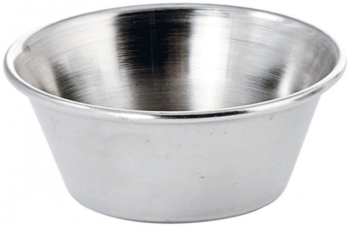 Winco SCP-15 Stainless Steel Sauce Cup 1.5 oz. - 1 doz