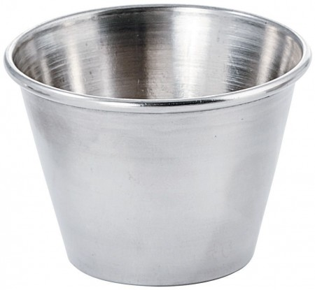 Winco SCP-25 Stainless Steel Sauce Cup 2.5 oz. - 1 doz
