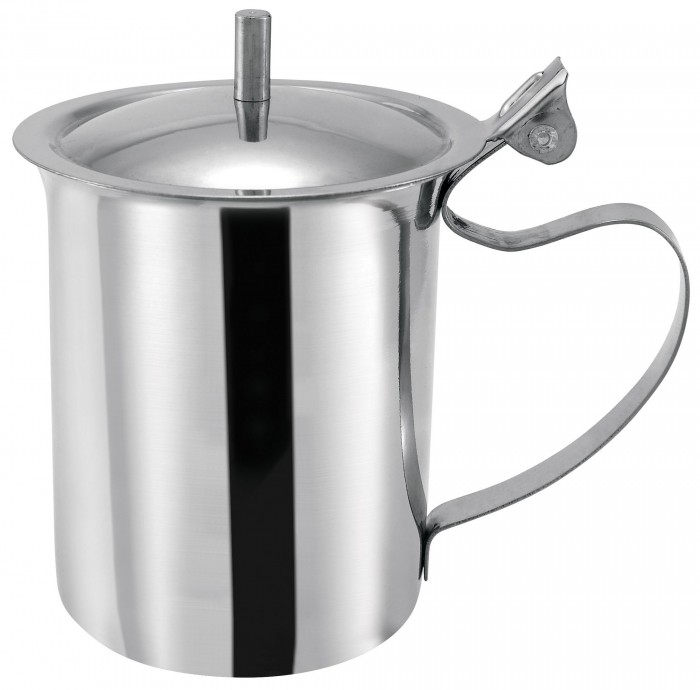 Winco SCT-10 Stainless Steel Server / Creamer with Cover 10 Oz.