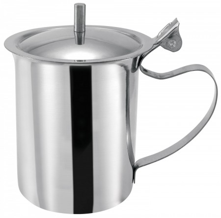 Winco SCT-10 Stainless Steel Server with Cover and Handle 10 oz.