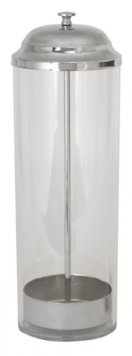 Winco SDP-3 Stainless Steel Accent Straw Dispenser