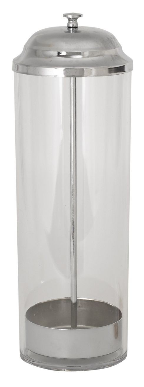 Winco SDP-3 Polycarbonate Straw Dispenser with 100-Straw Capacity