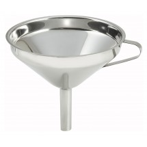 Winco SF-6 Stainless Steel Wide Mouth Funnel 5-3/4""