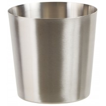 "Winco SFC-35 Stainless Steel Fry Cup with Satin Finish 3.25"" Dia."