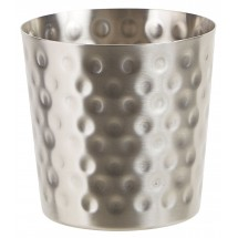 "Winco SFC-35H Stainless Steel Fry Cup with Hammered Finish 3.25"" Dia."