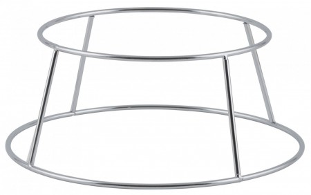 Winco SFR-4 Aluminum Display Seafood Tray Rack Holder 4-3/8""