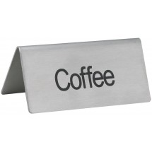 "Winco SGN-103 Stainless Steel ""Coffee"" Tent Sign"