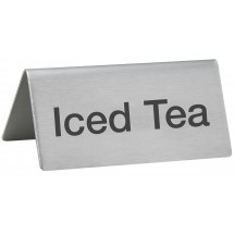 "Winco SGN-105 Stainless Steel ""Iced Tea"" Tent Sign"